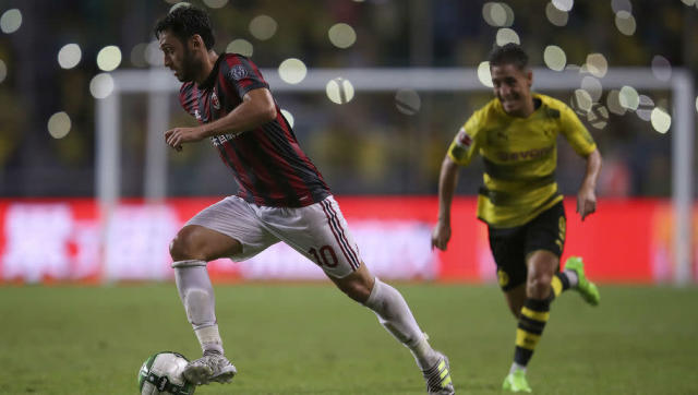 <p>Calhanoglu is another new signing for AC Milan as the Turkish international joins from Bundesliga side Bayer Leverkusen following a three year spell at the club where he scored 17 League goals in 79 Bundesliga appearances. </p> <br><p>In February 2017 Calhanoglu was banned by FIFA from playing for a duration of four months due to a breach of contract relating to his time at German side Karlsruhe. Calhanoglu, who has been given Milan's number 10 shirt, will be looking to make up for lost time as he kick starts his career in Serie A.</p>