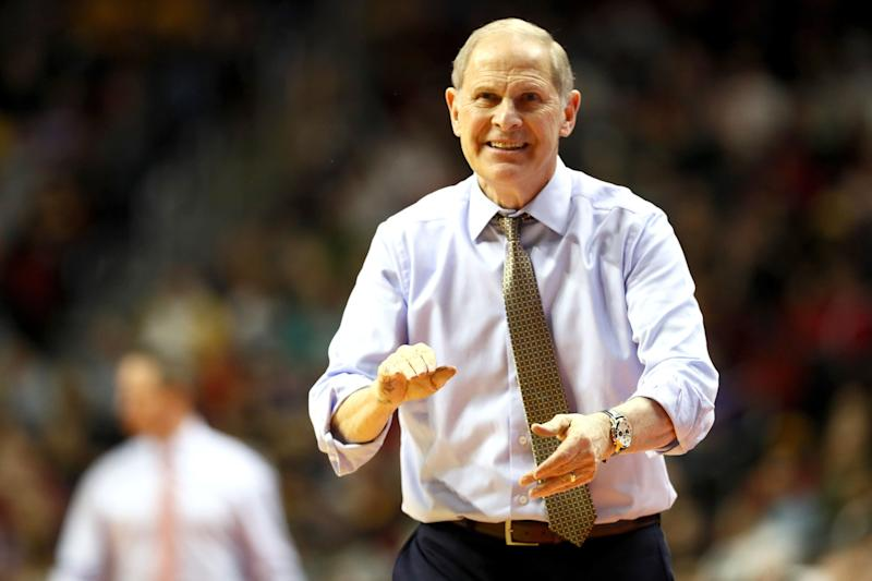DES MOIJohn Beilein is reportedly leaving Michigan to help rebuild the Cleveland Cavaliers. (Photo by Jamie Squire/Getty Images)NES, IOWA - MARCH 23: Head coach John Beilein of the Michigan Wolverines shouts against the Florida Gators during the second half in the second round game of the 2019 NCAA Men's Basketball Tournament at Wells Fargo Arena on March 23, 2019 in Des Moines, Iowa. (Photo by Jamie Squire/Getty Images)