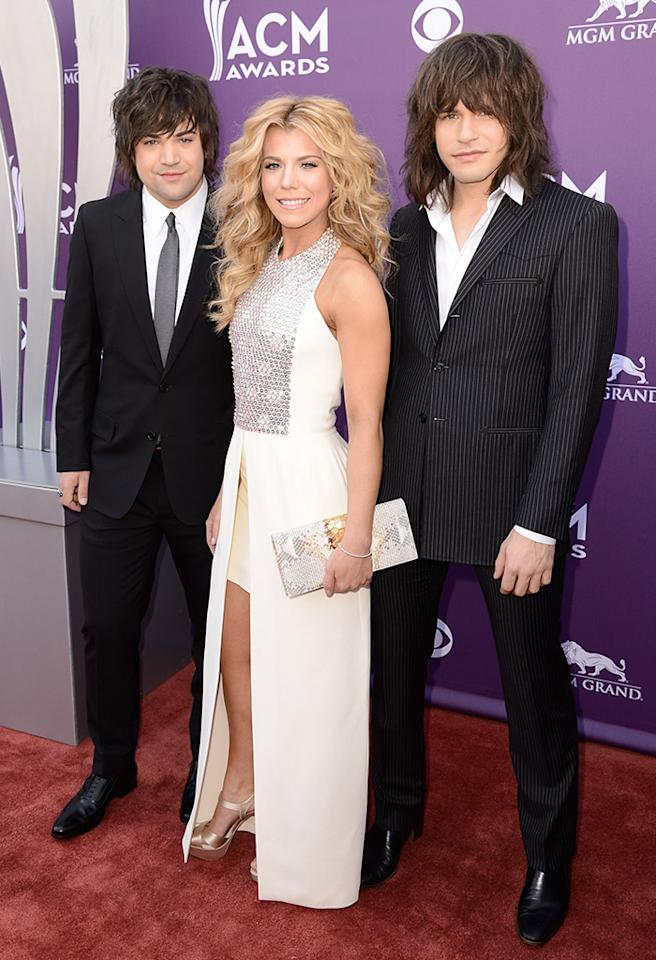 LAS VEGAS, NV - APRIL 07:  (L-R) Neil Perry, Kimberly Perry, and Reid Perry of music group The Band Perry attend the 48th Annual Academy of Country Music Awards at the MGM Grand Garden Arena on April 7, 2013 in Las Vegas, Nevada.  (Photo by Frazer Harrison/ACMA2013/Getty Images for ACM)