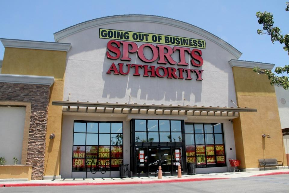 Exterior of a Sports Authority Store Stores From Childhood