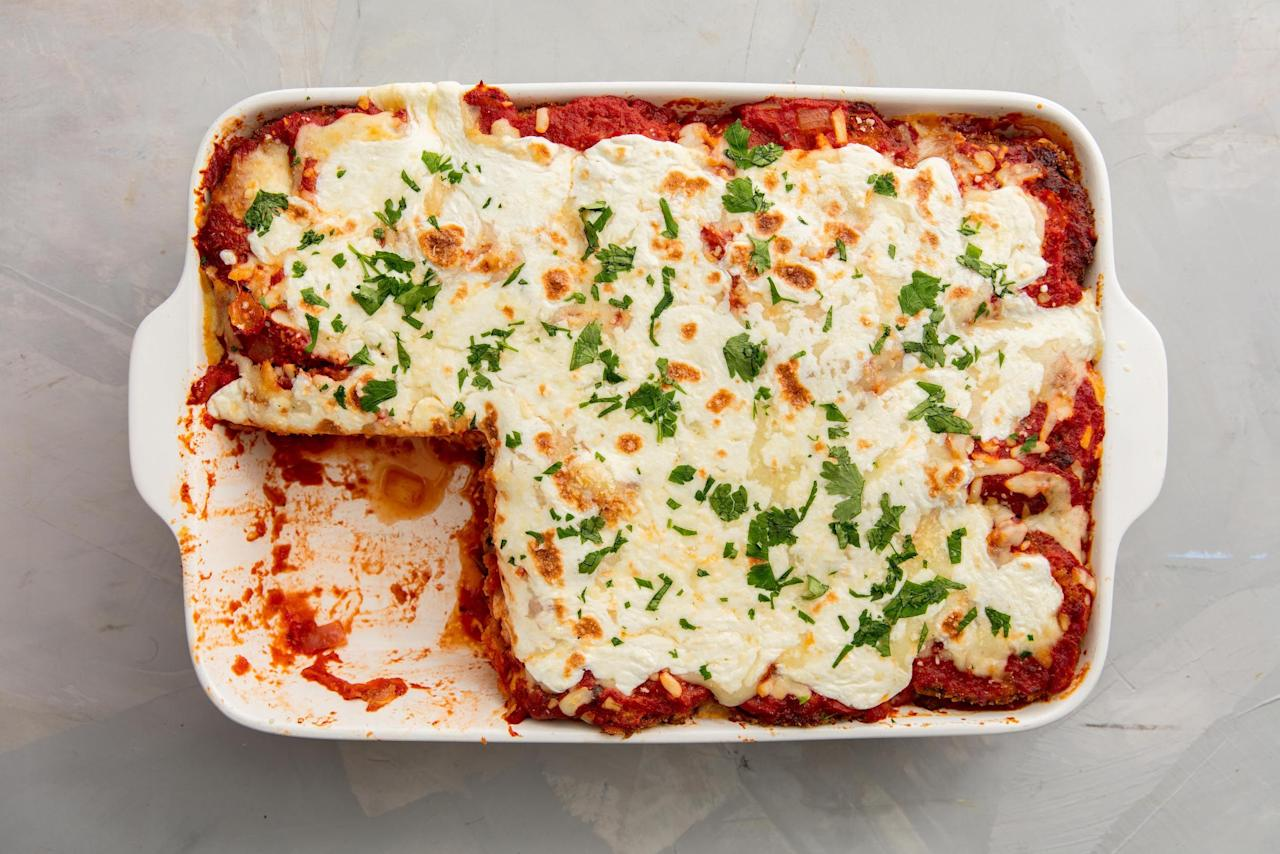 <p>Pasta, pizza, dips and more, all made healthy thanks to eggplant.</p>