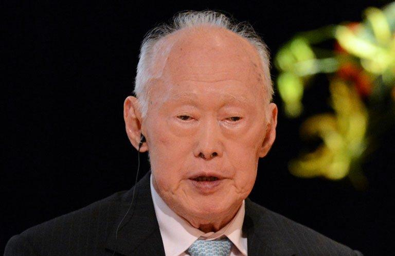 Lee Kuan Yew at a conference in Tokyo on May 24, 2012
