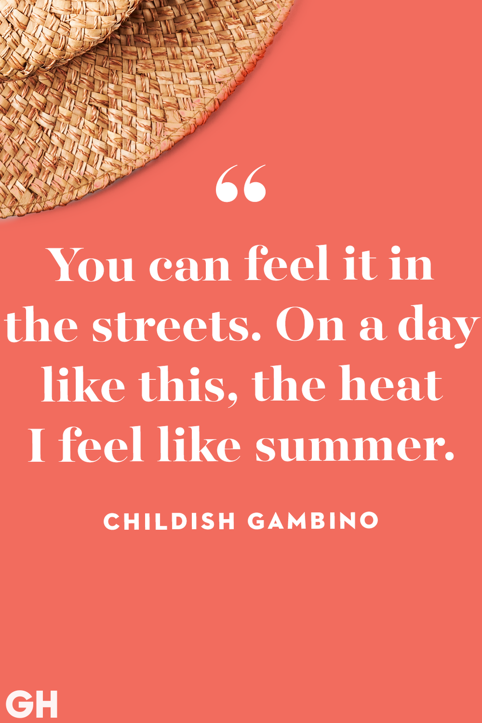 """<p>""""You can feel it in the streets. On a day like this, the heat I feel like summer.""""</p>"""