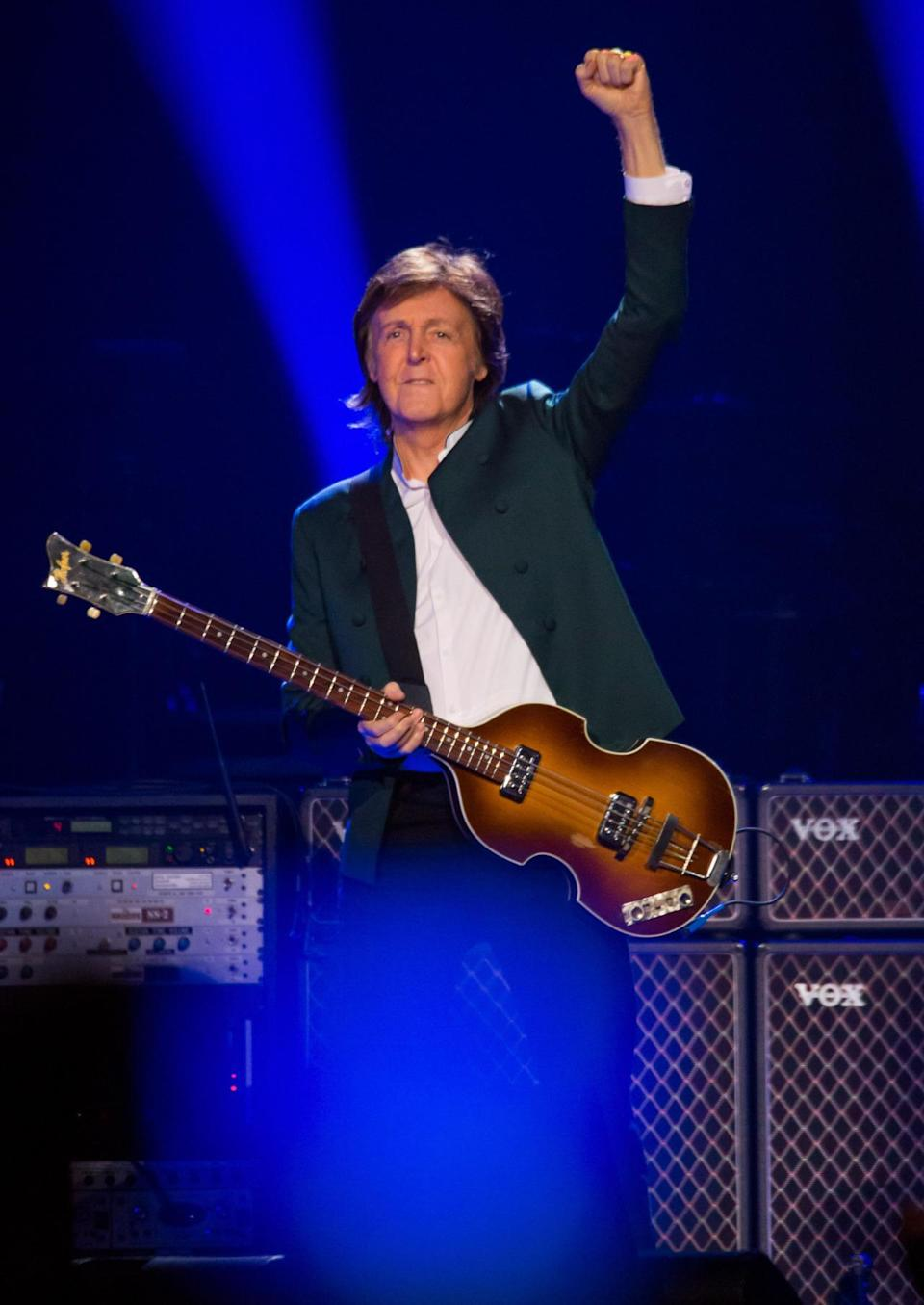 """Paul McCartney may win a Grammy in the Rap Field. In fact, he may win two. He's nominated for Best Rap Performance for appearing as a featured artist on Kanye West's """"All Day,"""" and Best Rap Song for co-writing that song. Odds of this happening: Not good. Kendrick Lamar's """"Alright"""" is the frontrunner in both categories."""