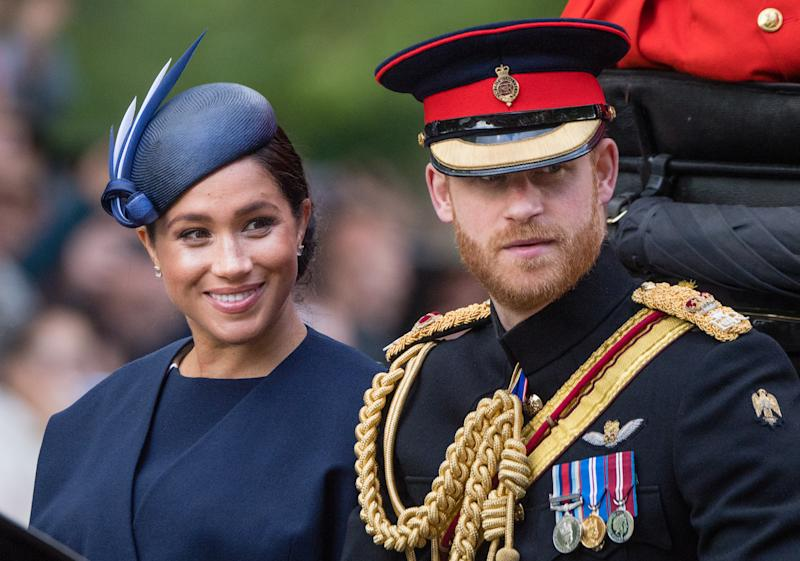 Prince Harry, Duke of Sussex and Meghan, Duchess of Sussex at the Trooping The Colour, the Queen's annual birthday parade in June. Photo: Getty