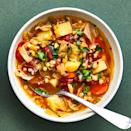 <p>Sherry adds sweetness and flavor to this slow-cooker vegetarian cabbage soup. It's balanced nicely by the crushed red pepper, fire-roasted tomatoes and a pop of acidity from the sherry vinegar. Potatoes give the soup heft and substance. Serve with crusty bread.</p>