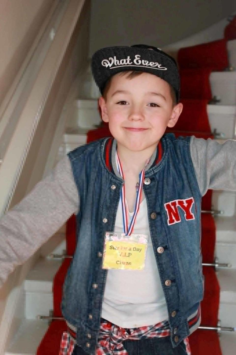 Ciaran was killed while playing with friends in Craigton Cemetery in Glasgow in May 2015 (SWNS)