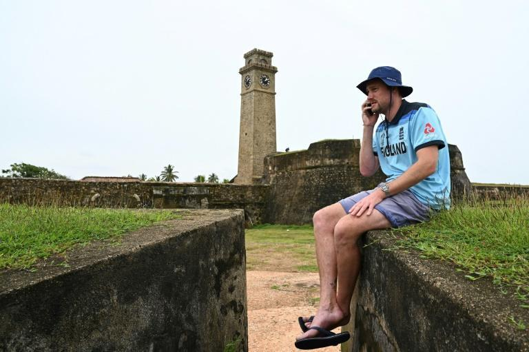 Lewis at the Galle Fort, which overlooks the cricket stadium
