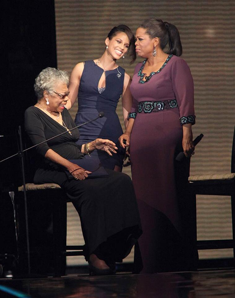 "One of Oprah's idols, author Dr. Maya Angelou, was also in attendance, along with musician Alicia Keys. Barry Brecheisen/<a href=""http://www.wireimage.com"" target=""new"">WireImage.com</a> - May 17, 2011"