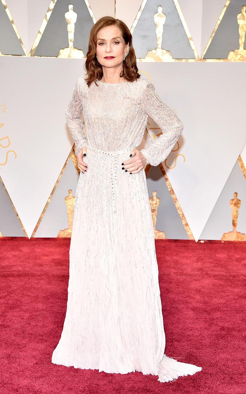 <p>Actress Isabelle Huppert attends the 89th Annual Academy Awards at Hollywood & Highland Center on February 26, 2017 in Hollywood, California. (Photo by Kevin Mazur/Getty Images) </p>