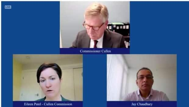 Commission counsel Eileen Patel questioned Jay Kanth Chaudhary at a public inquiry into money laundering helmed by Commissioner Austin Cullen.
