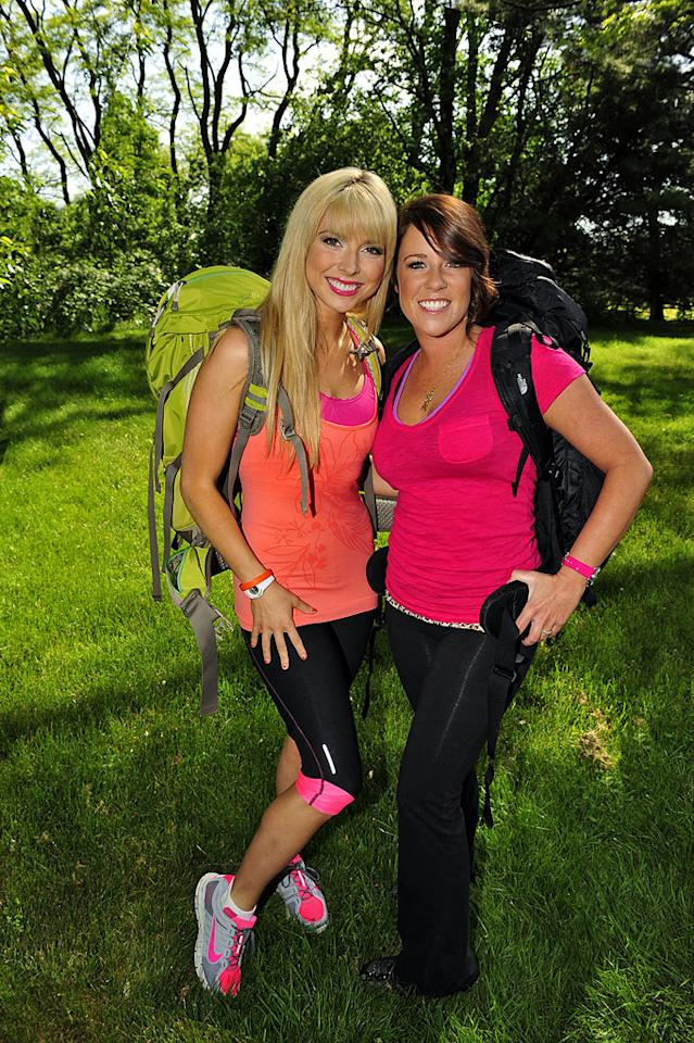"Home Shopping Hosts Brook Roberts (left) and Claire Champlin compete in ""The Amazing Race 17."""