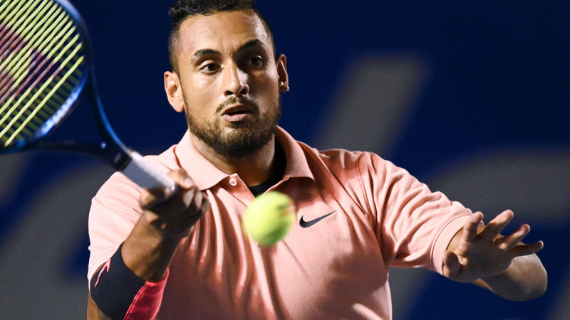 Nick Kyrgios, pictured here in action at the Mexico Open in February.