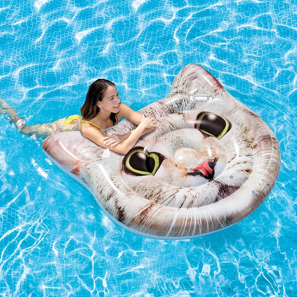 Intex Cat Face Inflatable Island (Photo: Amazon)