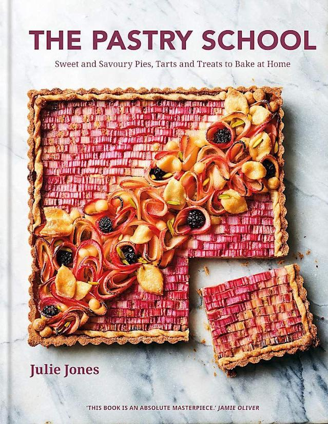 """<p><strong>Release: </strong>5 March 2020</p><p>A beautiful cookbook filled to the brim with recipes that celebrate all things pastry. From tarts to pies, savoury sharing dishes to sweet bites, Julie's second book takes you through pastry making in easy step-by-step guides.</p><p><strong><a class=""""link rapid-noclick-resp"""" href=""""https://www.amazon.co.uk/Pastry-School-Julie-Jones/dp/085783780X/ref=zg_bsnr_66_9?_encoding=UTF8&psc=1&refRID=M0EA0W8PZ5XM4JDSXHHA&tag=hearstuk-yahoo-21&ascsubtag=%5Bartid%7C2159.g.28871146%5Bsrc%7Cyahoo-uk"""" rel=""""nofollow noopener"""" target=""""_blank"""" data-ylk=""""slk:PRE-ORDER"""">PRE-ORDER</a> The Pastry School, amazon.co.uk</strong></p>"""