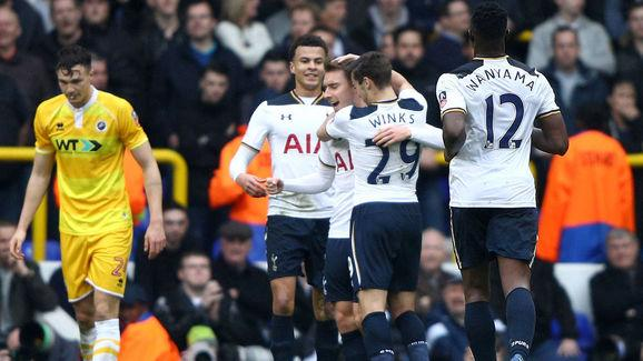 Tottenham Hotspur v Millwall - The Emirates FA Cup Quarter-Final