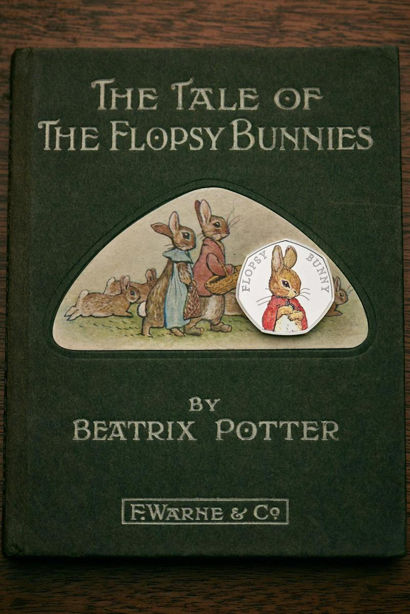 A new coin featuring Beatrix Potter character Flopsy Bunny (Royal Mint)