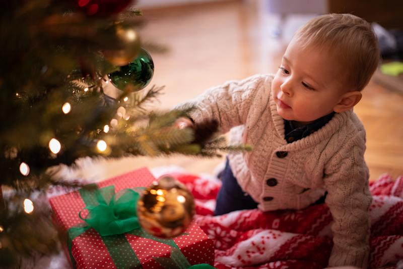 Toddlers and Christmas trees can now co-exist thanks to a clever hack. Photo: Getty Images