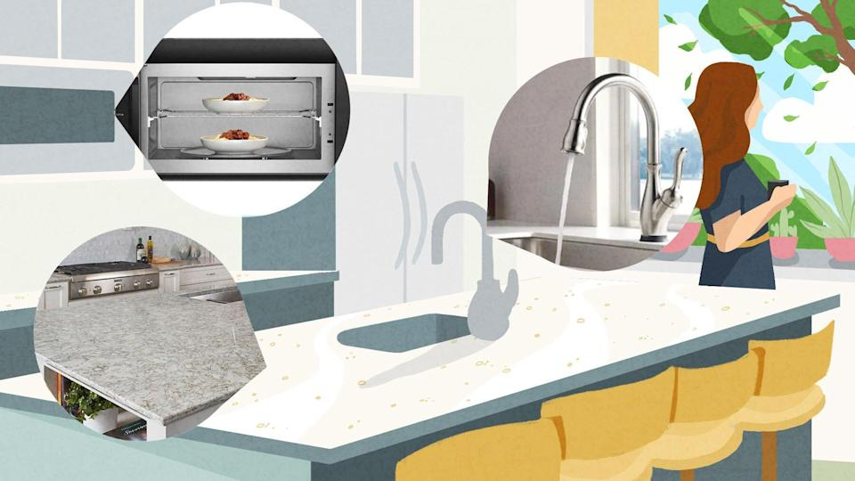 Design Choices that Make Your Home Easier to Sanitize, kitchen with touchless faucet and appliances