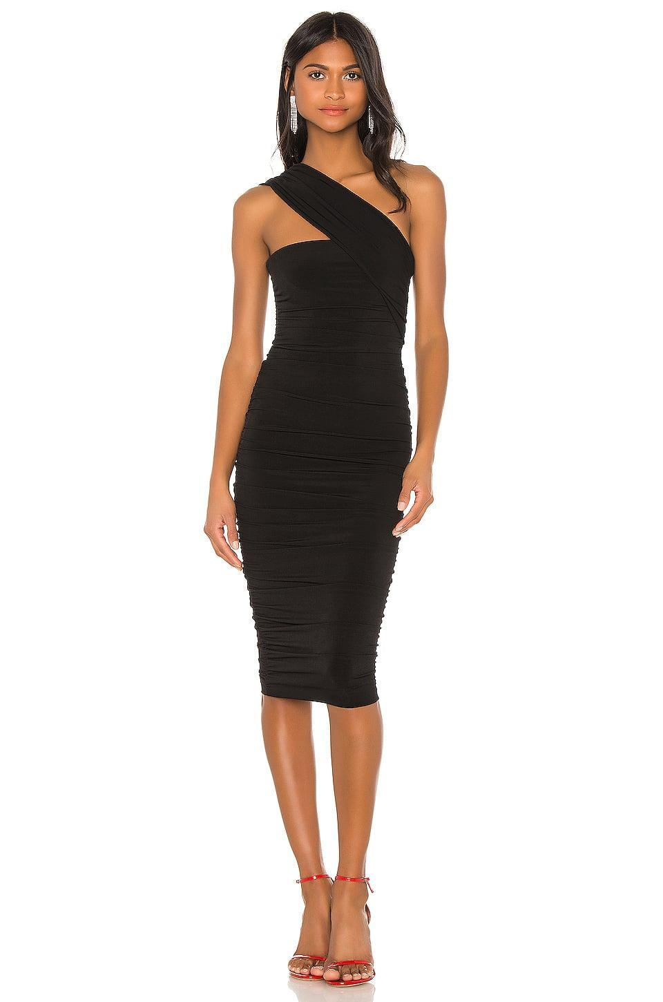 <p>Whether you dress it up or down, you'll look great in this <span>Nookie Temptation One Shoulder Midi Dress</span> ($184).</p>