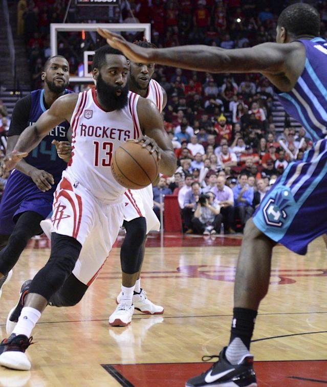James Harden put up his 11th triple-double of the season on Tuesday. (AP)