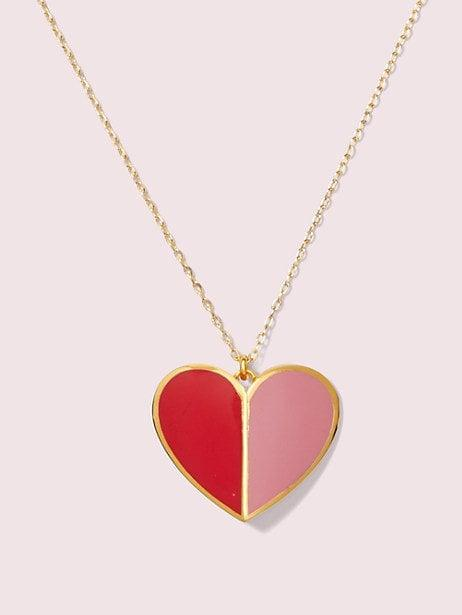 """<p>She can layer this <a href=""""https://www.popsugar.com/buy/Heritage-Spade-Enamel-Heart-Pendant-539600?p_name=Heritage%20Spade%20Enamel%20Heart%20Pendant&retailer=katespade.com&pid=539600&price=98&evar1=savvy%3Aus&evar9=45342302&evar98=https%3A%2F%2Fwww.popsugar.com%2Fphoto-gallery%2F45342302%2Fimage%2F47139216%2FHeritage-Spade-Enamel-Heart-Pendant&list1=shopping%2Cgifts%2Choliday%2Cchristmas%2Cgift%20guide%2Cvalentines%20day%2Cgifts%20for%20women&prop13=api&pdata=1"""" rel=""""nofollow"""" data-shoppable-link=""""1"""" target=""""_blank"""" class=""""ga-track"""" data-ga-category=""""Related"""" data-ga-label=""""https://www.katespade.com/products/heritage-spade-enamel-heart-pendant/767883539378.html"""" data-ga-action=""""In-Line Links"""">Heritage Spade Enamel Heart Pendant</a> ($98) with her other fave necklaces.</p>"""