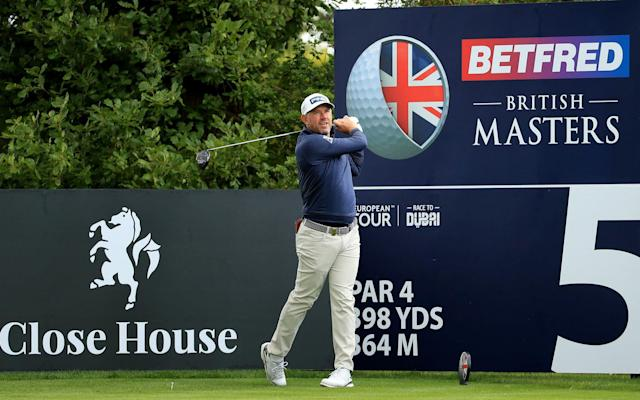 Lee Westwood in action during a practice round at the Betfred British Masters at Close House Golf Club on July 21, 2020 in Newcastle upon Tyne - - GETTY IMAGES