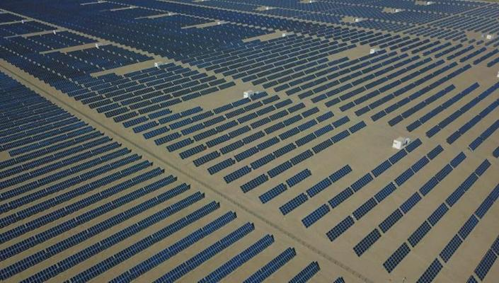 China has invested heavily in renewable generation over the last few years, including this solar energy farm in the Gobi desert