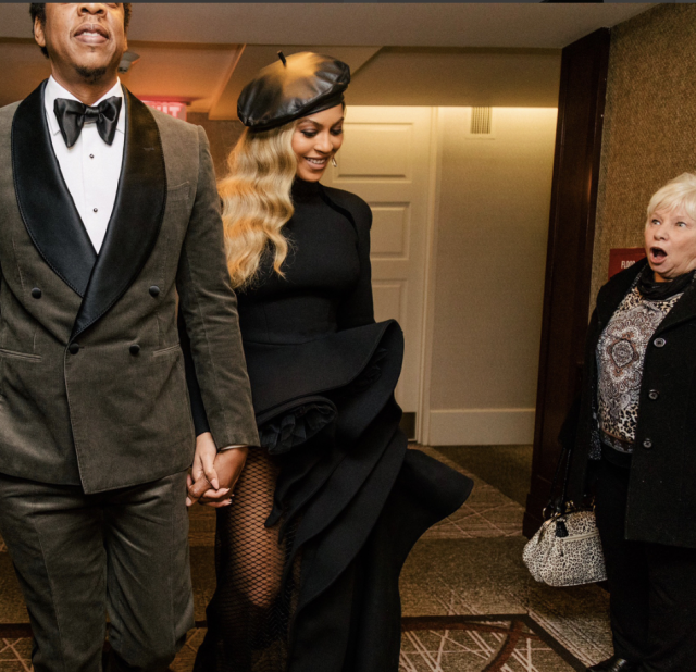 "<p>We are all, basically, this woman, who looked beyond shocked to be in the presence of Bey and Jay over the weekend. The singer posted this hilarious shot on her Instagram account, proving that her sense of humor rivals only her sense of style. (Photo: <a href=""https://www.instagram.com/p/BegtZJxl_8M/?taken-by=beyonce"" rel=""nofollow noopener"" target=""_blank"" data-ylk=""slk:Beyoncé via Instagram"" class=""link rapid-noclick-resp"">Beyoncé via Instagram</a>) </p>"