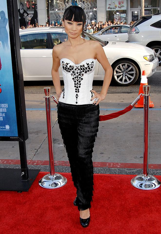 "Bai Ling  ""Ghosts of Girlfriend's Past"" Los Angeles premiere  Grade: D-    Normally, Bai Ling's gets an automatic fail. However, the fact that she managed to color coordinate and miraculously stay covered up earned her a few extra credit points."