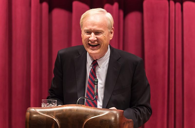 A former MSNBC employee received separation-related compensation after reporting Chris Matthews for making inappropriate comments about her, a spokesperson said. (Gilbert Carrasquillo via Getty Images)