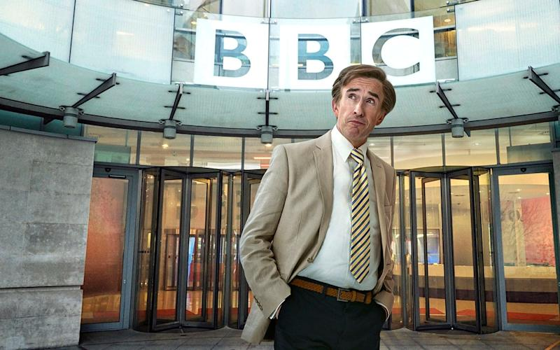 He's back at the Beeb! Alan Partridge returned to prime-time TV last night - PA