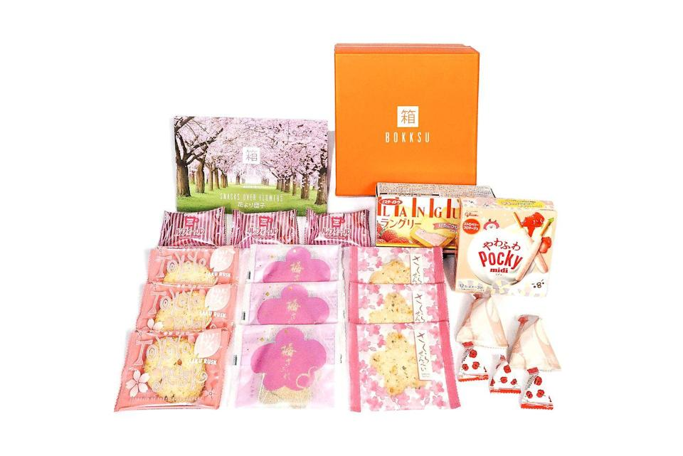 """<p><strong>Starts at $39.95</strong></p><p>Japanese snacks are super trendy and once you taste some, you'll hop right on board. This subscription box is half snacks and tea, half education with both a selection of delicious treats and a 24-page Culture Guide magazine that details the origins and flavors you'll experience. Just try and stop yourself from looking up plane tickets while you eat.</p><p><a class=""""link rapid-noclick-resp"""" href=""""https://go.redirectingat.com?id=74968X1596630&url=https%3A%2F%2Fwww.bokksu.com%2F&sref=https%3A%2F%2Fwww.goodhousekeeping.com%2Ffood-products%2Fg5043%2Fbest-monthly-food-subscription-boxes%2F"""" rel=""""nofollow noopener"""" target=""""_blank"""" data-ylk=""""slk:BUY NOW"""">BUY NOW</a></p>"""