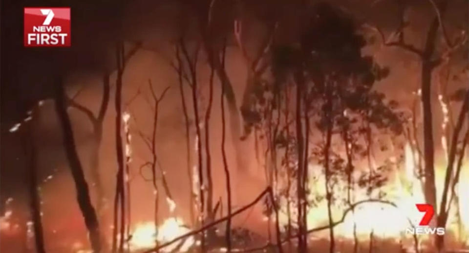 The arrests come as hundreds of firefighters put their lives on the line to fight the flames. Source: 7 News