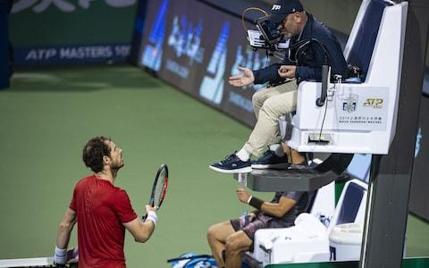 <span>Murray repeatedly complained to the umpire</span> <span>Credit: Getty images </span>
