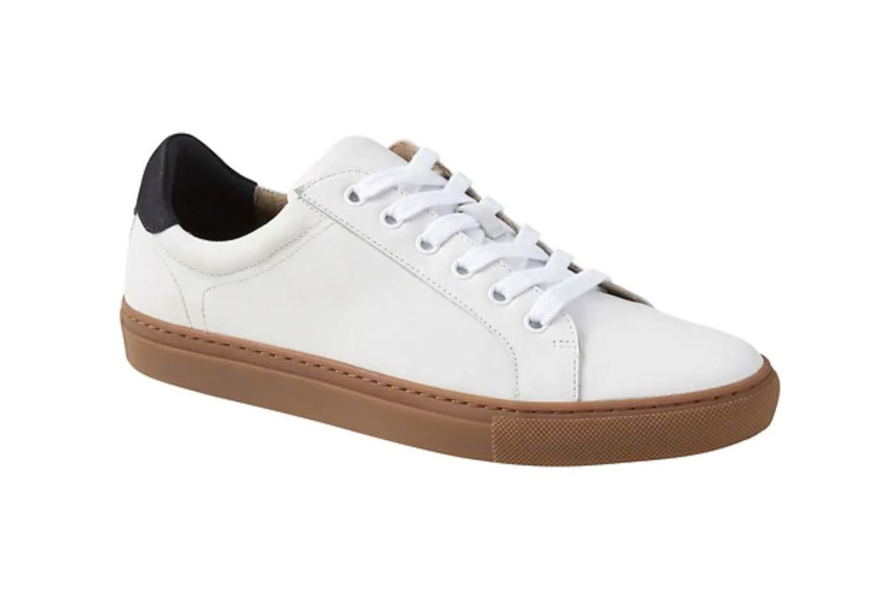 """<p>Made with temperature-regulating technology originally developed for NASA, these sneakers get an A+ for thermal comfort and breathability. Banana Republic's Advanced Comfort Technology insoles also feature shock absorption in the heel, arch support, and breathable flex on the toe pads.</p> <p>To buy: <a href=""""http://www.anrdoezrs.net/links/7876402/type/dlg/sid/TLFASMensDressSneakersKFSept19/fragment/pdp-page-content/https://bananarepublic.gap.com/browse/product.do?pid=166850002"""" target=""""_blank"""">bananarepublic.com</a>, $128</p>"""