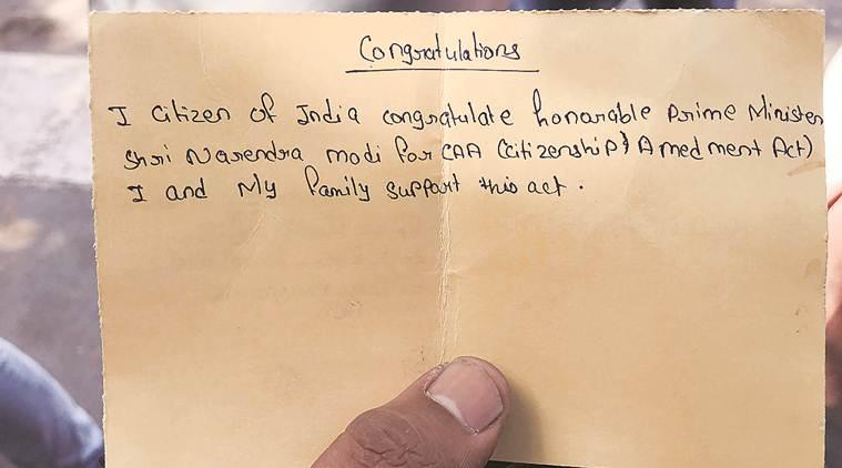 Gujarat school gets students to pen CAA postcards to PM, parents force retreat