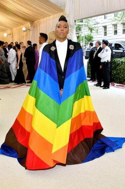 PHOTO: Lena Waithe attends the Heavenly Bodies: Fashion & The Catholic Imagination Costume Institute Gala at The Metropolitan Museum of Art on May 7, 2018 in New York City. (Dia Dipasupil/WireImage/Getty Images)