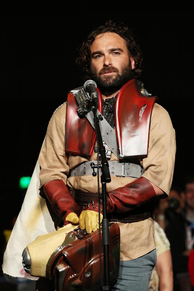 "Johnny Galecki was one of many surprises at ""The Big Bang Theory's"" Comic-Con panel session held at the San Diego Convention Center on July 19, 2013 in San Diego, California."