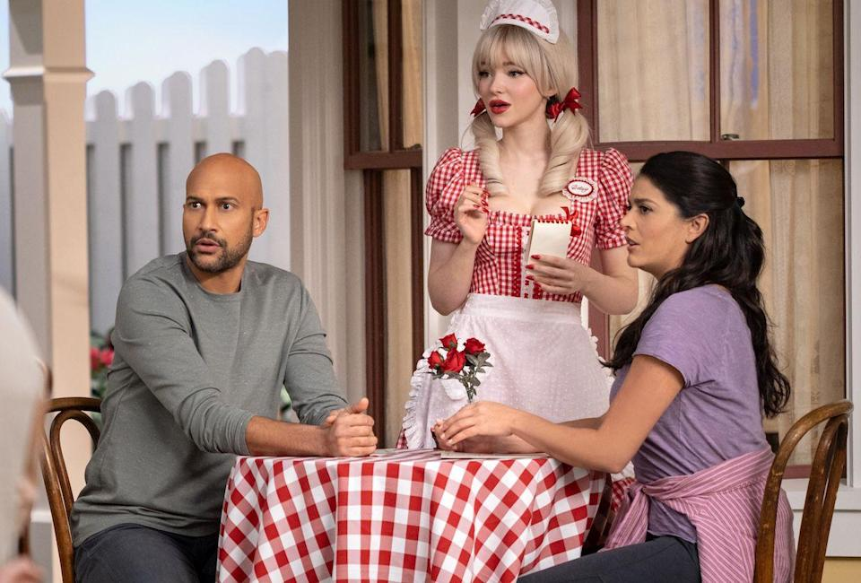 """<p>For all you musical lovers out there, <em>Schmigadoon </em>will be an utter delight. The musical comedy follows a couple (played by Cecily Strong and Keegan Michael Key) who, after getting lost on a hiking trip, find themselves into a quaint town where everyone bursts into song. In order to escape the musical, they have to play along with it, and learn whatever lessons the songs want to impart. Watch out for all the musical Easter eggs, including <em>Oklahoma! </em>and <em>My Fair Lady</em>-inspired numbers. </p><p><a class=""""link rapid-noclick-resp"""" href=""""https://go.redirectingat.com?id=74968X1596630&url=https%3A%2F%2Ftv.apple.com%2Fus%2Fshow%2Fschmigadoon%2F&sref=https%3A%2F%2Fwww.redbookmag.com%2Flife%2Fg37608731%2Fhappy-feel-good-tv-shows%2F"""" rel=""""nofollow noopener"""" target=""""_blank"""" data-ylk=""""slk:Watch Now"""">Watch Now</a></p>"""