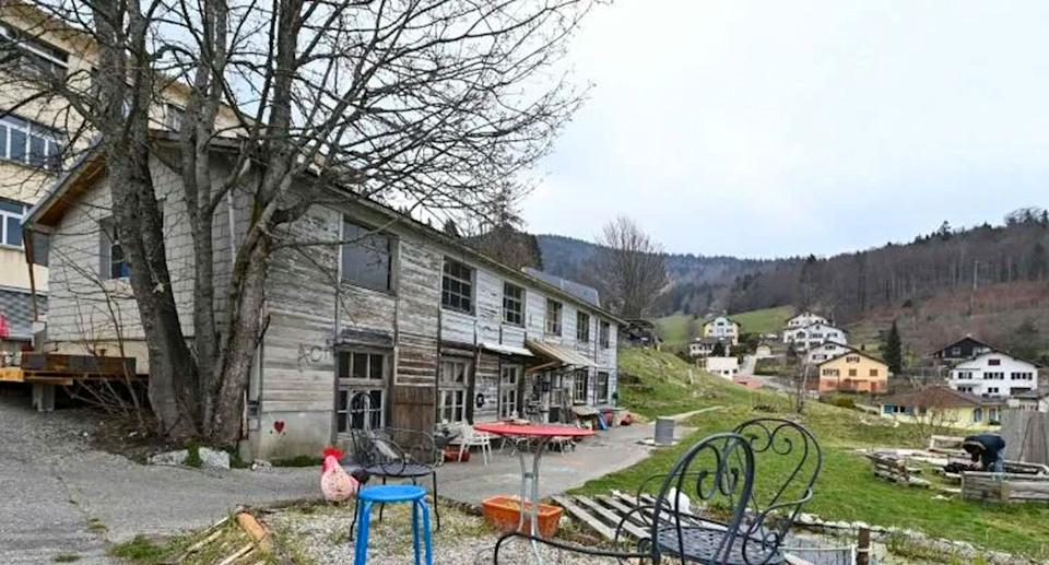 The eight-year-old kidnapped girl Mia was found in this Swiss barn near the French border.. Source: AFP