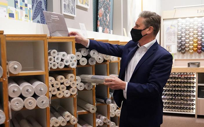 Sir Keir Starmer browses wallpaper in 'nightmarish' John Lewis - Getty