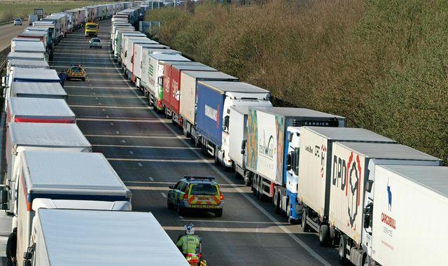 Brexit: Government promises temporary toilets for truckers caught short by border delays