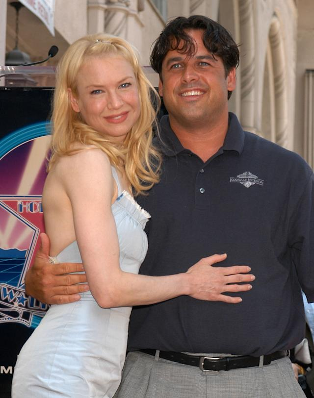 Renee Zellweger's brother Drew Zellweger made her laugh about the situation. (Photo by Stephen Shugerman/Getty Images)