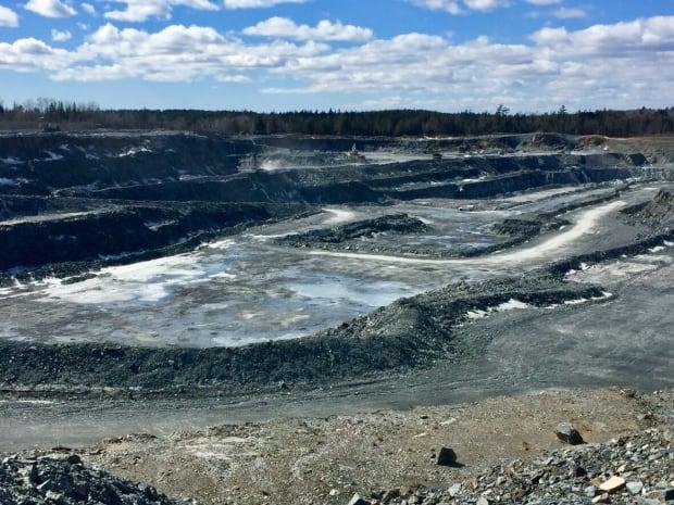 The open pit is seen at Atlantic Gold's Touquoy gold mine in Moose River, N.S. (Paul Palmeter/CBC - image credit)