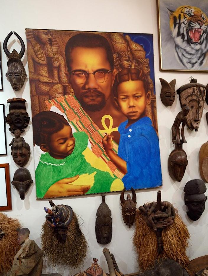 African art collector Eric Edwards' interest was sparked by his Barbadian father, who sought to counter racism in New York by teaching his children African history (AFP Photo/Don Emmert)