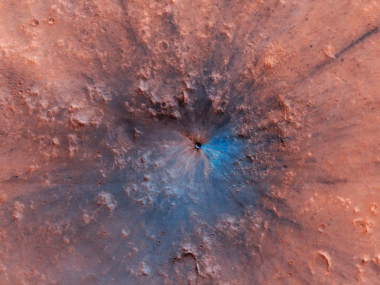 The spectacular crater appeared recently (University of Arizona)