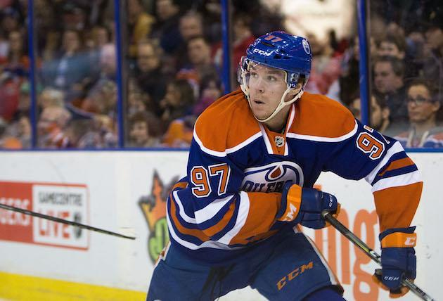 """EDMONTON, AB – FEBRUARY 23: <a class=""""link rapid-noclick-resp"""" href=""""/nhl/players/6743/"""" data-ylk=""""slk:Connor McDavid"""">Connor McDavid</a> #97 of the <a class=""""link rapid-noclick-resp"""" href=""""/nhl/teams/edm/"""" data-ylk=""""slk:Edmonton Oilers"""">Edmonton Oilers</a> skates against the <a class=""""link rapid-noclick-resp"""" href=""""/nhl/teams/ott/"""" data-ylk=""""slk:Ottawa Senators"""">Ottawa Senators</a> on February 23, 2016 at Rexall Place in Edmonton, Alberta, Canada. (Photo by Codie McLachlan/Getty Images)"""