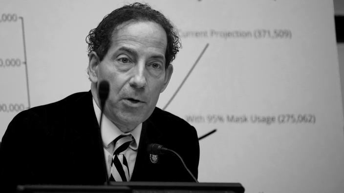 Rep. Jamie Raskin (D-MD) speaks as Secretary of Health and Human Services Alex Azar testifies before the House Select Subcommittee on the Coronavirus Crisis, on Capitol Hill on October 2, 2020 in Washington, DC. (J. Scott Applewhite-Pool/Getty Images)