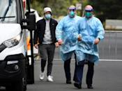 Players are staying in strict biosecure conditions in Melbourne